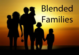 Blended Familes - family shadow against sunset