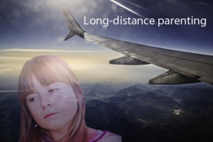 Long distance Parenting - little girl and airplane
