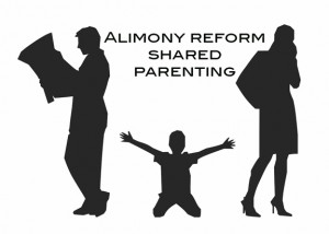 Black ink images of shared parenting