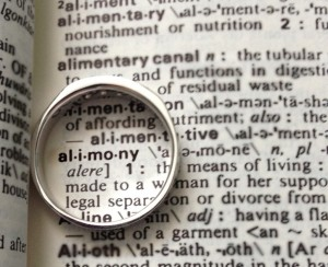 Ring on the world alimony in the dictionary